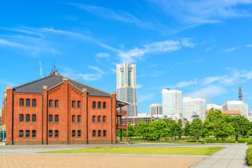 Scenic Minato Mirai 21 Area in Yokohama, Japan