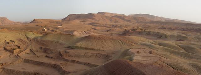Desert Landscape around the Kasbah Ait Benhaddou