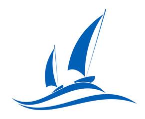 Sailing or yachting emblem