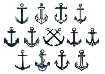 Vintage marine anchors