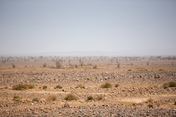Arid and hot day in the desert of Sahara, Tata