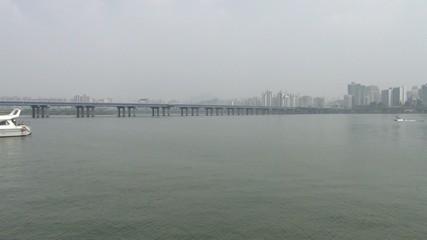 韓国ソウル-漢江と水上バイク2