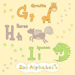 Colorful children's alphabet with animals