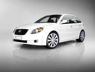 Contemporary White Shiny Luxury Vehicle