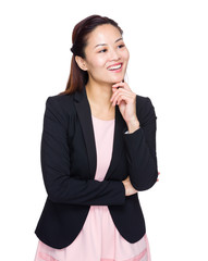 Asian businesswoman think of idea