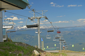 Chair lifts and Gondolas at Whistler