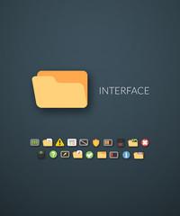 Flat design modern of brand identity style