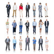 canvas print picture - Multiethnic Group of People Isolated on White