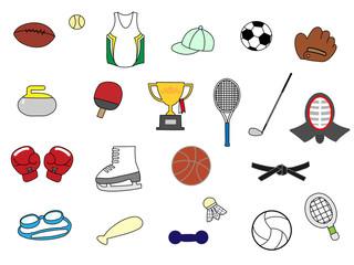 スポーツ用品アイコン