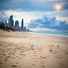 Australia's Gold Coast beach