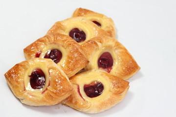 Fresh baked aweet Cherry Danish Pastry.