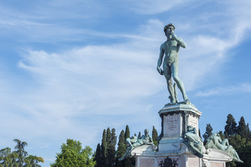 The statue of David by Michelangelo in Florence, Italy