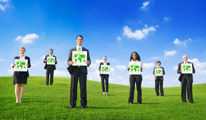 Group of People With Green Business Concepts