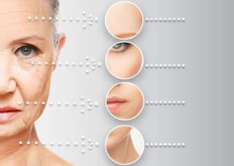 beauty concept skin aging. anti-aging procedures, rejuvenation