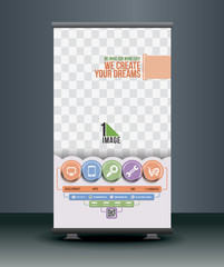 Tech Multipurpose Roll Up Banner Design