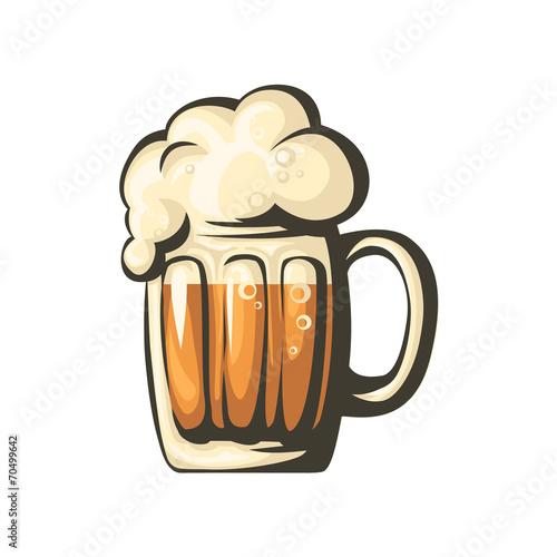 Isolated beer mug. Vector. - 70499642