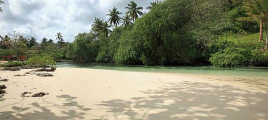 rivière des sur plage rincon,des caraïbes