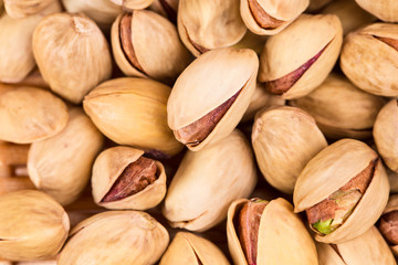 Salted pistachios.
