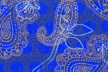 Beautiful paisley pattern on cloth.