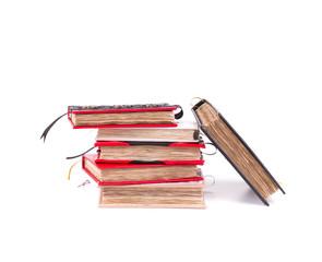 Stack of handmade notebooks.