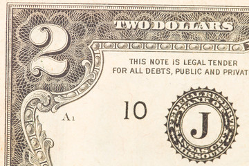 Two dollar bill.