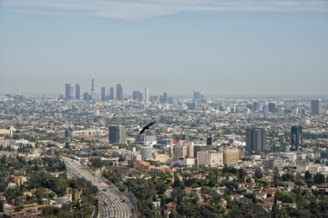 los angeles view from mulholland drive