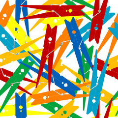 Seamless pattern with clothes pegs