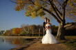 Asian Wedding couple in Nature pictures