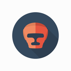 boxing helmet icon illustration