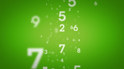Random Numbers Green Rising