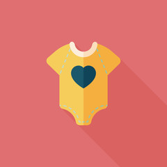baby onesie flat icon with long shadow,EPS 10