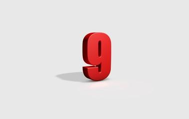 numero 9 3d