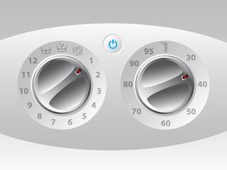 Manual wash machine control deck