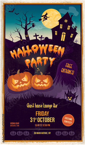 Halloween party poster - 70503218