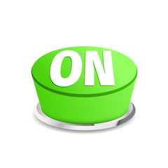 Turn on button sign template green