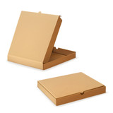 Cardboard box for pizza, vector illustration
