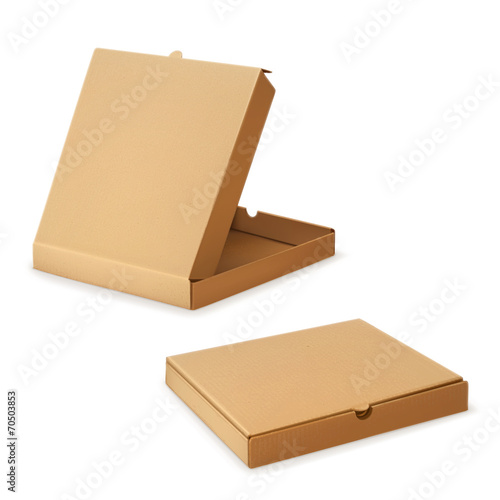 Cardboard box for pizza, vector illustration - 70503853