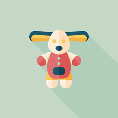 toy dog flat icon with long shadow,eps10
