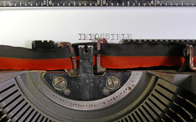 IMPOSSIBLE written with a mechanical typewriter
