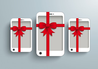 3 White Smartphone Red Gibbon Gift