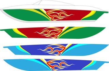 Boat Graphics, Stripe : Vinyl Ready