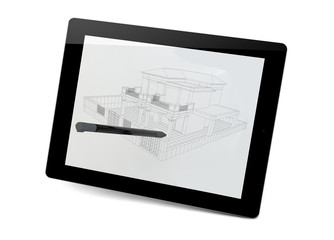 building in a tablet