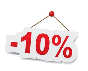 Ten percent off. Discount 10%.