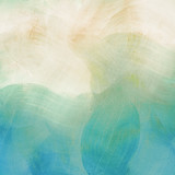 Fototapety Light blue painted watercolor background