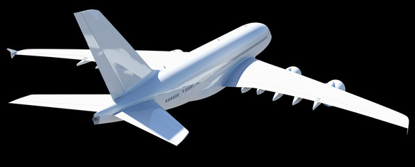 White modern airplane