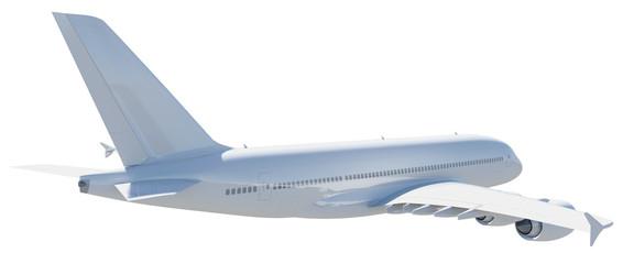 White modern airplane
