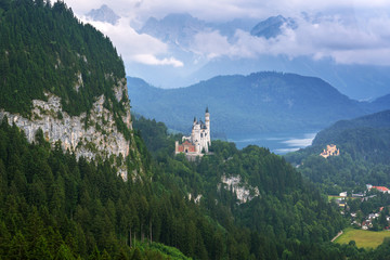 Castle in the Bavarian Alps, Germany