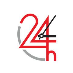 Vector logo 24 hour