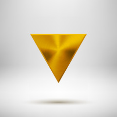 Gold Abstract Triangle Button Template