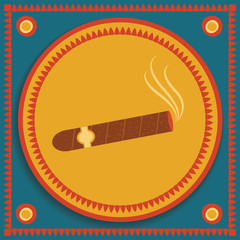 cigar on stylized background